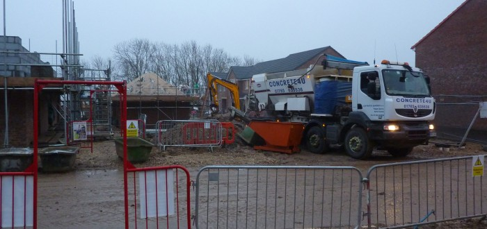 Concrete4U delivering to a Housing Site 2