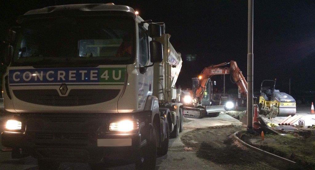 Night work concrete Harrogate