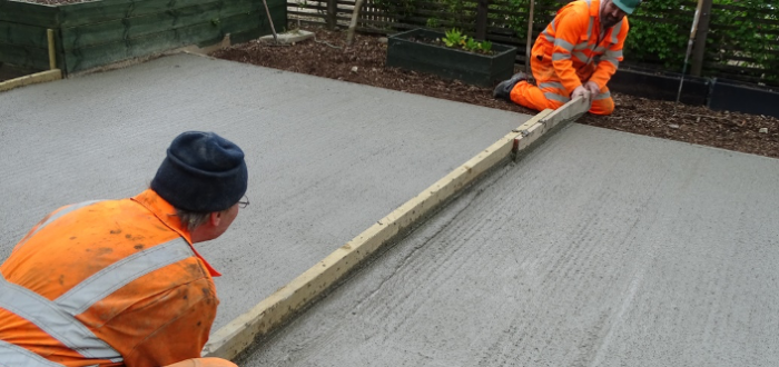 concrete for a shed base