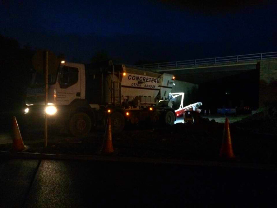 A1L2B Nightwork Concrete Highways