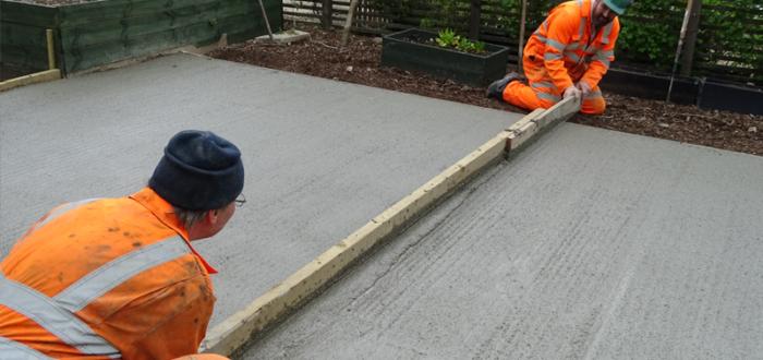 concrete slab for garden office